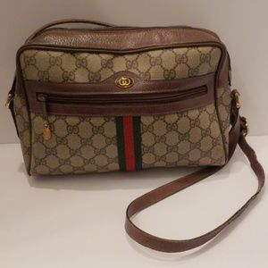 Gucci brown vintage crossbody bag